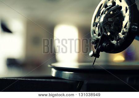 Old gramophone closeup