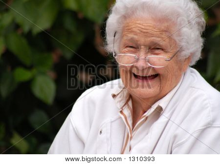 Elderly Lady Smiling
