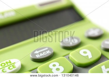 Calculator, closeup
