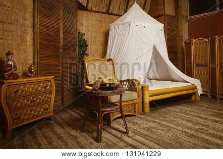 Interior Of A Oriental Style Bedroom