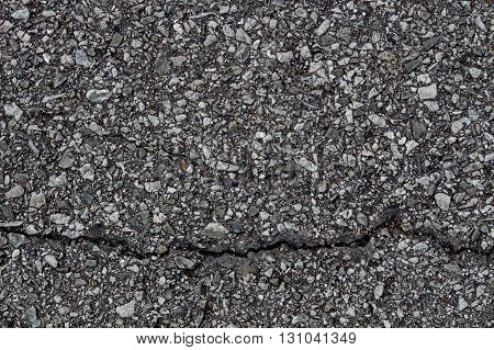 The crack on road surface for background
