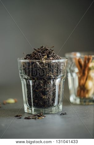Aromatic and flavorful Indian dust tea powder.