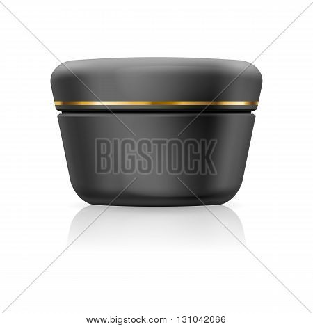 black cream with golden stripe isolated on a white background