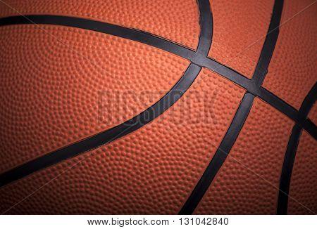 Closeup of a basketball ball background