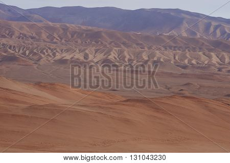 Colourful mountains in the Atacama Desert of northern Chile
