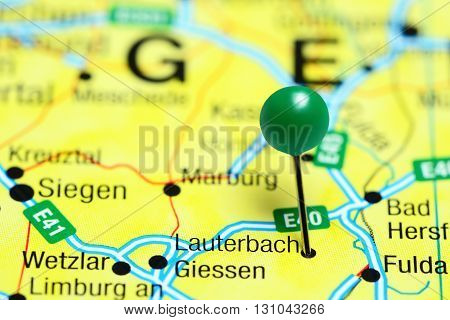 Lauterbach pinned on a map of Germany