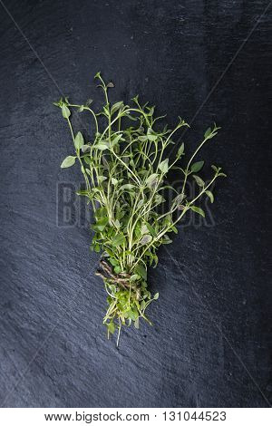 Portion Of Fresh Thyme
