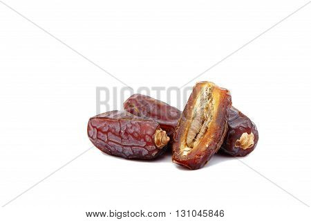 Dried Dates in close-up - Stock Image,food,fruit