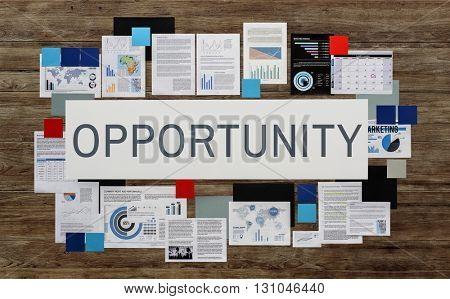 Opportunity Chance Job Choice Development Concept