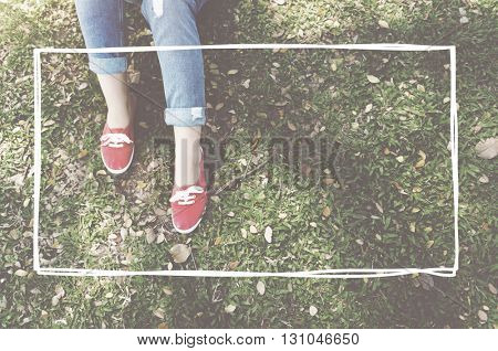 Park Grass Feet Frame Box Concept