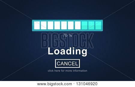 Loading Bar Load Waiting Indicator Concept