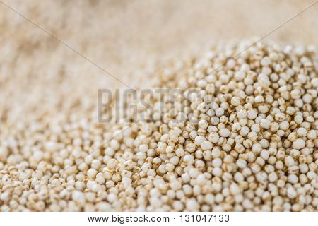 Puffed Quinoa (selective Focus; Close-up Shot)