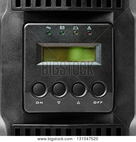 uninterruptible power supply (ups) controller, closeup view