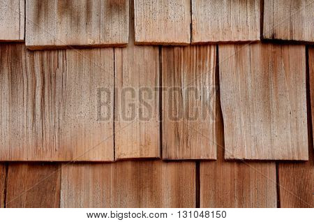 Wood cedar siding shingles, shakes, background, backdrop,