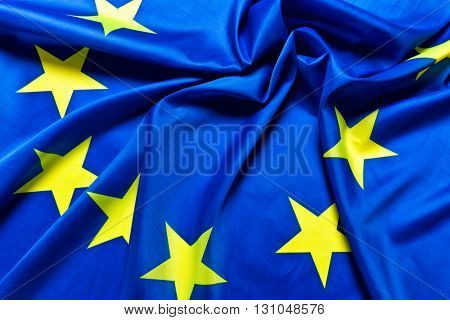 real fabric european flag background
