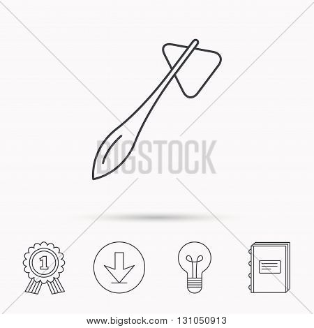 Reflex hammer icon. Doctor medical equipment sign. Nervous therapy tool symbol. Download arrow, lamp, learn book and award medal icons.