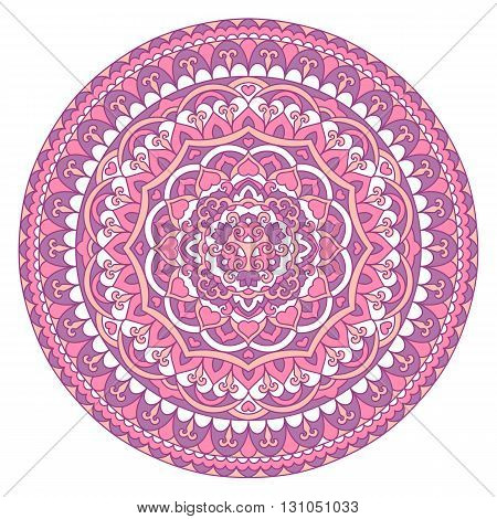 Abstract Ornate Mandala. Decorative frame for design. Vector illustration.