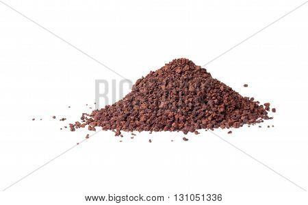 Hill granulated tea on a white background