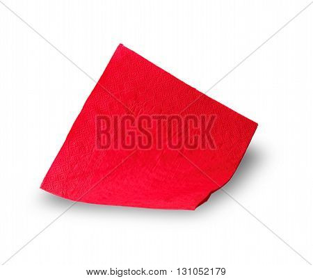 red paper napkin carved on a white background
