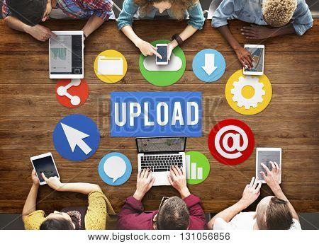 Upload Download Connection Network Online Concept