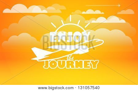 Travel vector illustration. Enjoy journey concept