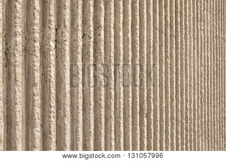 Section of wall, dirty white vertical pattern