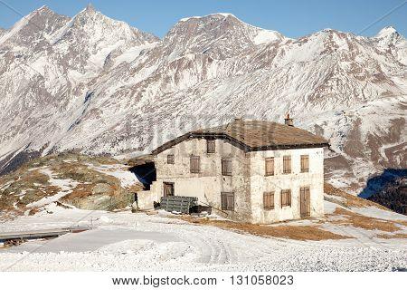 Scenic views around Zermatt and Matterhorn Switzerland