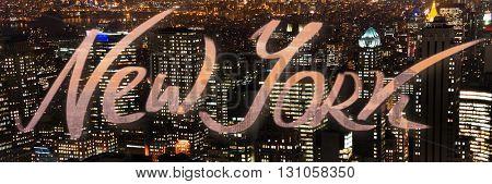 New York photo at night