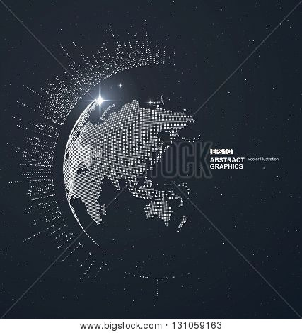 World map point line composition representing the global Global network connectioninternational meaning.