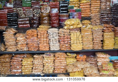 CALICUT INDIA - JULY 27 : snack stall in CALICUT. Calicut place is big shopping center in kerala on july 27 2015 india