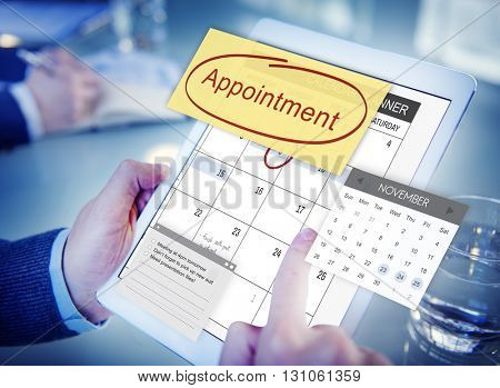 Appointment Planner Schedule Planning To Do List Concept