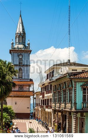 Zaruma Ecuador - November 4 2011: Town in the Andes located in the southern province of El Oro (meaning