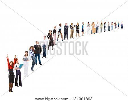 Office Idea Line of Colleagues