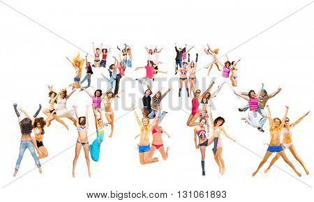 Big Group People Celebrating