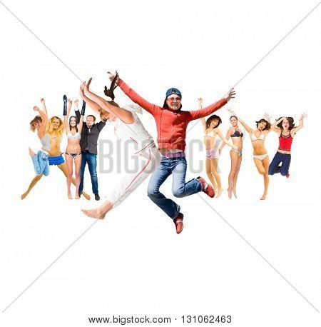 People Celebrating Over White