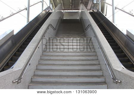 staircase stairs - down train station BTS.