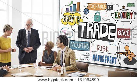 Trade Commerce Business Economy Merchandise Concept