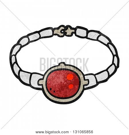 freehand textured cartoon ruby bracelet