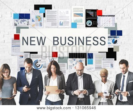 New Business Creativity Planning Vision Goals Concept