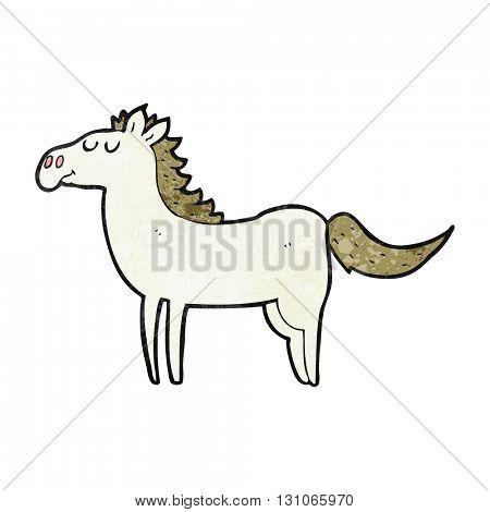 freehand textured cartoon horse