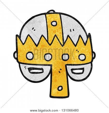 freehand textured cartoon medieval helmet