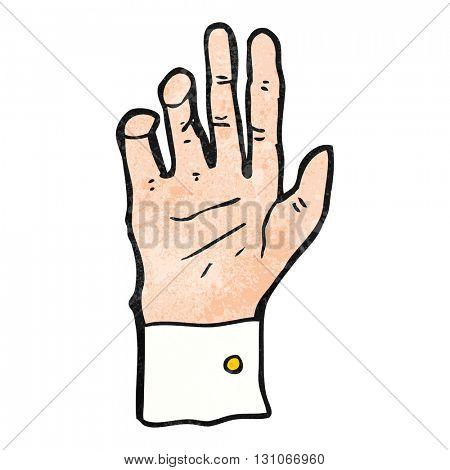 freehand textured cartoon hand reaching
