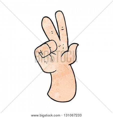 freehand textured cartoon hand counting