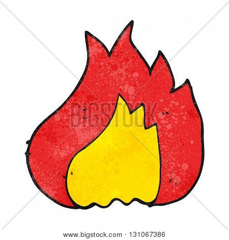 freehand textured cartoon flame