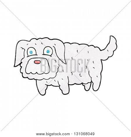 freehand textured cartoon small dog