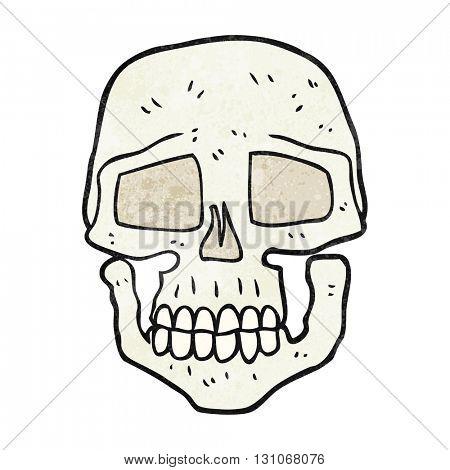 freehand textured cartoon skull