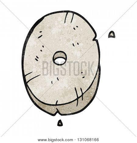 freehand textured cartoon stone number zero