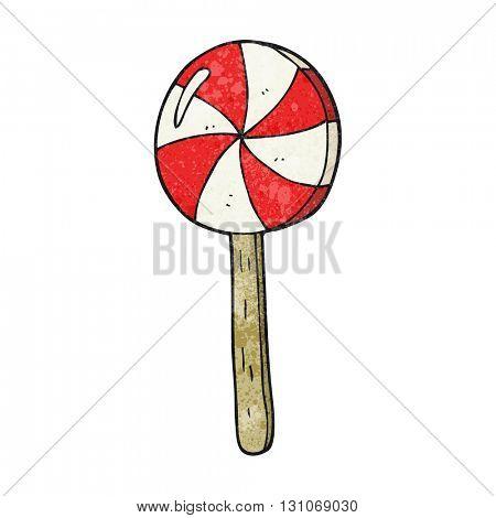 freehand textured cartoon lollipop