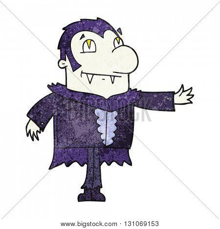 freehand textured cartoon vampire