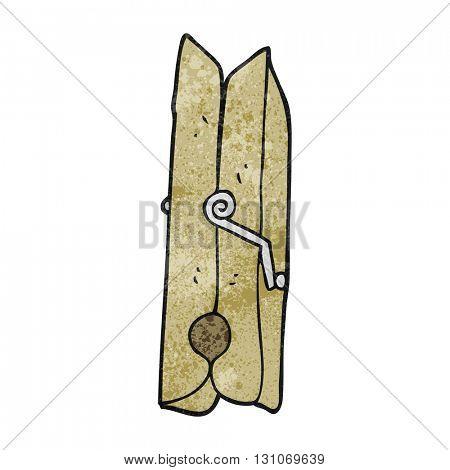 freehand textured cartoon wooden peg